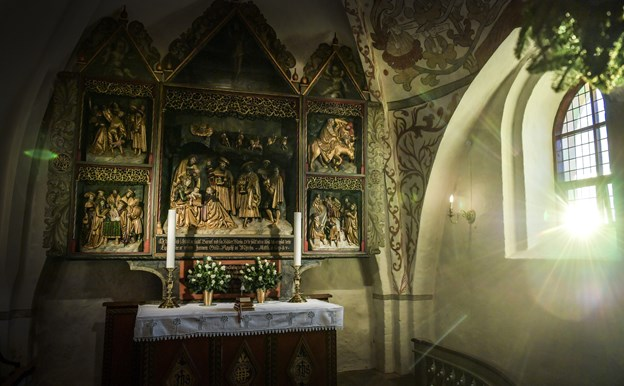 Musikken fylder Gjøl Kirke onsdag, når der er nytårskoncert. Foto: Michael Koch