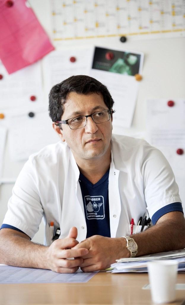Sam Riahi er overlæge ved Aalborg Universitetshospital og specialist i hjerterytmeforstyrrelser. Arkivfoto: Henrik Bo
