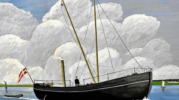 Gøl-båden som den tog sig ud for maleren J. Petersen i 1911.