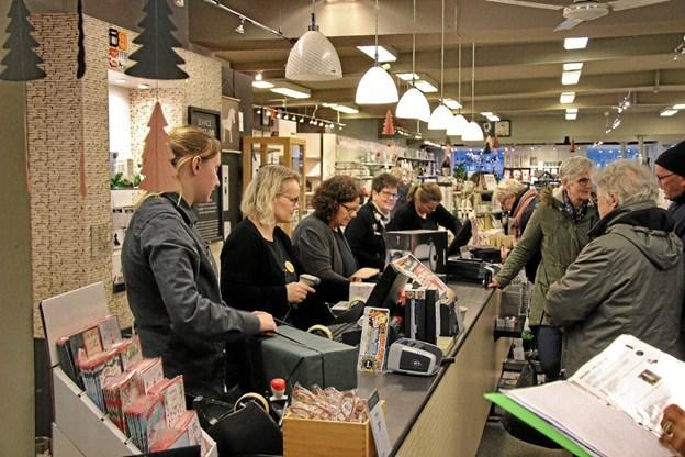 Også hos Imerco var der travlhed. Foto: Hans B. Henriksen Hans B. Henriksen