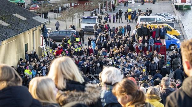 Befolkningen tog i den grad hvalen til sig - og skelettet bør udstilles i Hobro som et varigt minde, mener blandt andre borgmester Mogens Jespersen (V). Foto: Laura Guldhammer