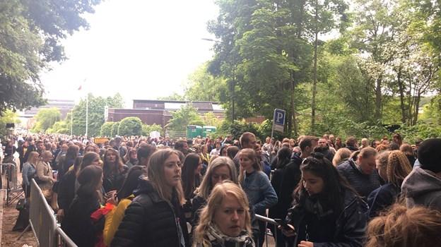 Stor forventning inden koncerten med Maroon 5. Foto: Camilla Gammelgaard