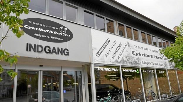 Cykelbutikken ligger i dag på Adelgade 73, hvor Netto tidligere havde hjemme. Foto: Jesper Bøss Jesper Bøss