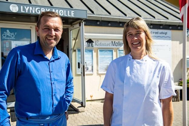 Anja og Poul Raunsmed har gjort udstedet til in-sted - også udenfor sæsonen.  Arkivfoto: Kim Dahl Hansen