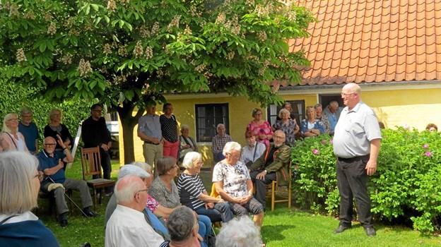 Formanden for Løkken Museum Søren Jensen bød velkommen. Foto: Kirsten Olsen
