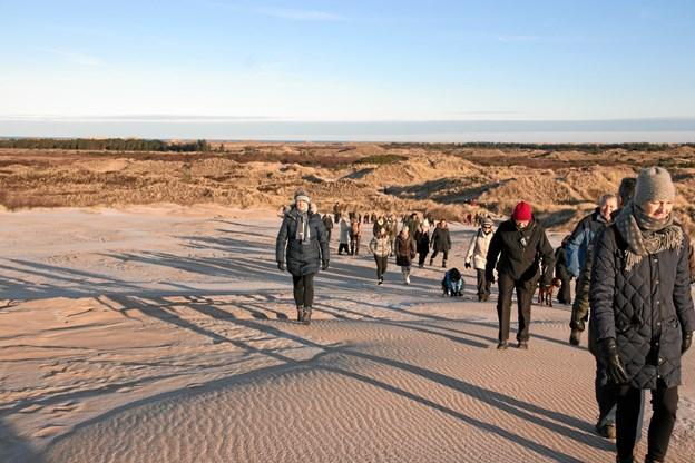 Omkring 80 var på Milevandring søndag formiddag.  Privatfoto