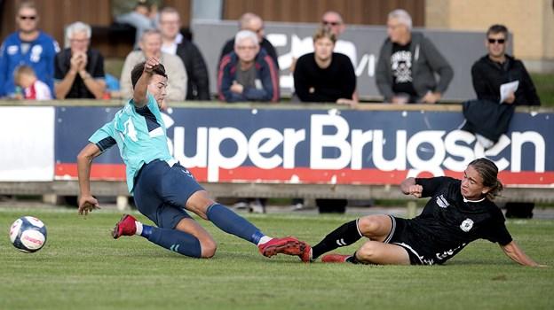 Nikolaj Lyngø scorede for Jammerbugt FC . Arkivfoto: Lars Pauli