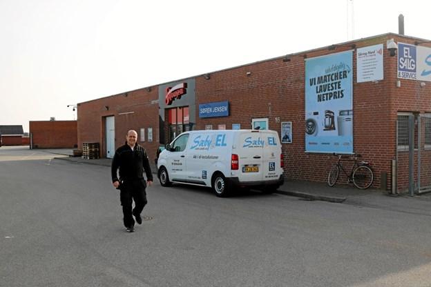 Skousen og Sæby El med Lars Andersen i spidsen har forretning og værksted på Sæby Havn. Foto: Tommy Thomsen Tommy Thomsen