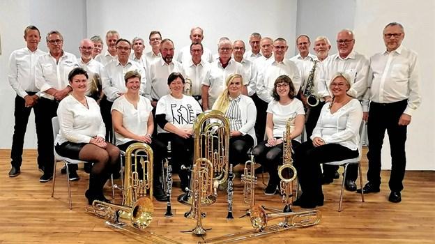 Hobro Borgervæbnings Orkester - kan lørdag 5. januar opleves ved en nytårsmatiné i Hobro Kirke. Privatfoto