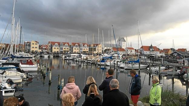 Flotte kulisser på Sæby Havn.