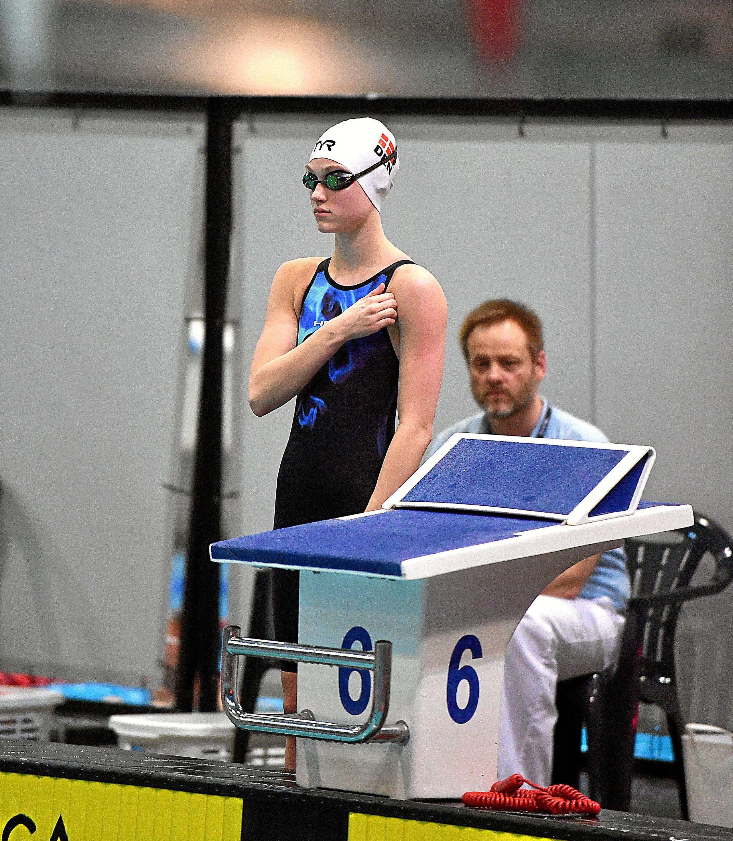 17-årige Camilla Aagaard repræsenterer også Svømmeklubben NORD fra Nørresundby, og EM er hendes internationale debut. Foto: Jyskpressefoto.dk