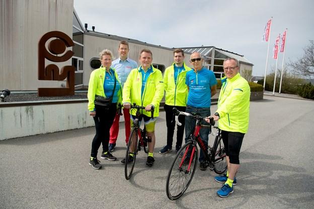 Team Frederikshavn består af i alt ti ryttere, som ankommer til Grenen i Skagen søndag 5. maj efter at have tilbagelagt 743 kilometer med start i København.  Foto: Henrik Louis Simonsen.