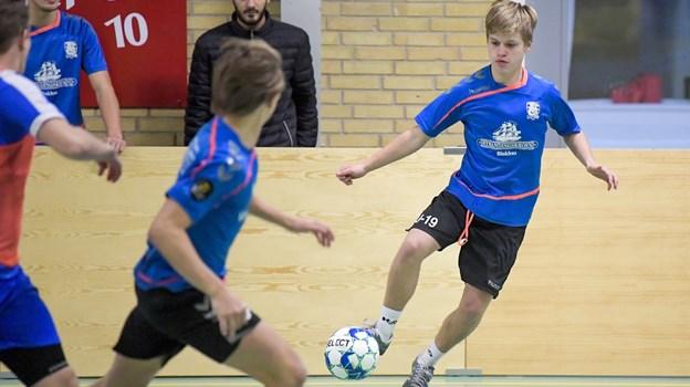 Jammerbugt FCs unge talenter deltog også, men blev slået ud i den indledende pulje torsdag. Foto: Lars Pauli