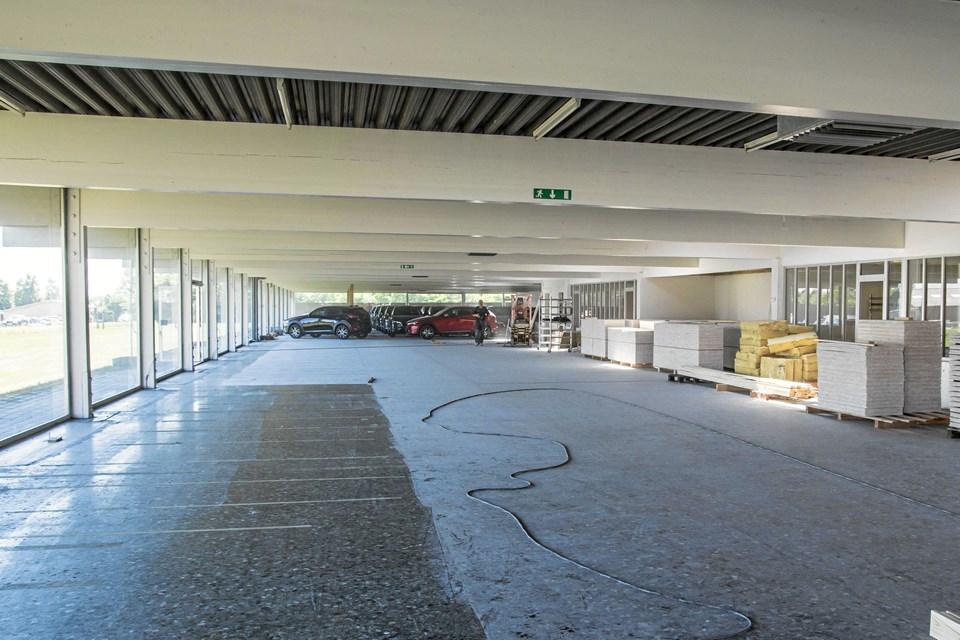 Vue over det nye store salgslokale.Privatfoto