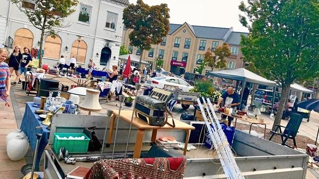 Det er snart til for markeder i Brønderslev midtby. Privatfoto