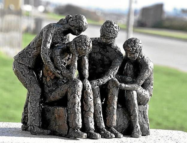 "Skulpturen ""Sammen klarer vi det"" Privatfoto"