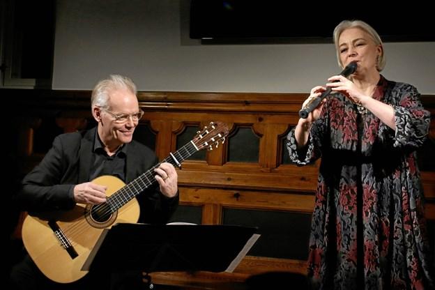 Lars Hannibal og Michela Petri var en oplevelse. Foto: Per Gregersen