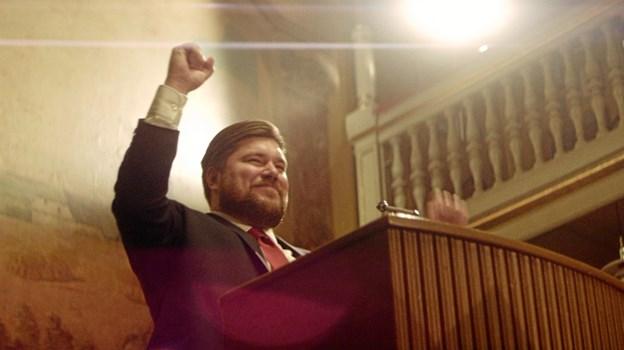 Rasmus Bjerg som ultra-nationalisten Martin Nordahl.