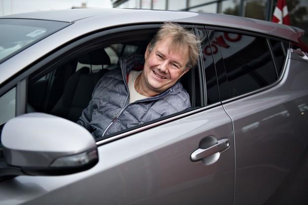 Allan Spring glæder sig til at lære sin nye bil at kende.Foto: Hans Ravn