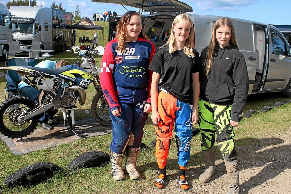 Der var 11 piger som havde kvalificeret sig til DM i pigeklassen. Foto: Flemming Dahl Jensen