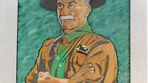 Robert Baden-Powell var kun til stede i ånden. Privatfoto