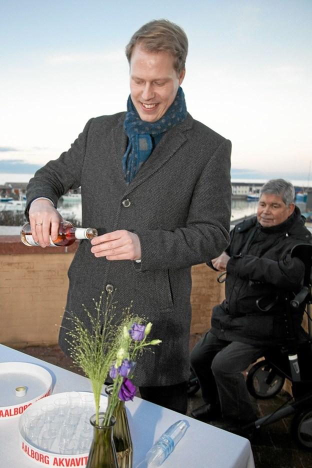 Den lokale bjesk blev skænket af museumsinspektør Christian Støve. Foto: Peter Jørgensen Peter Jørgensen