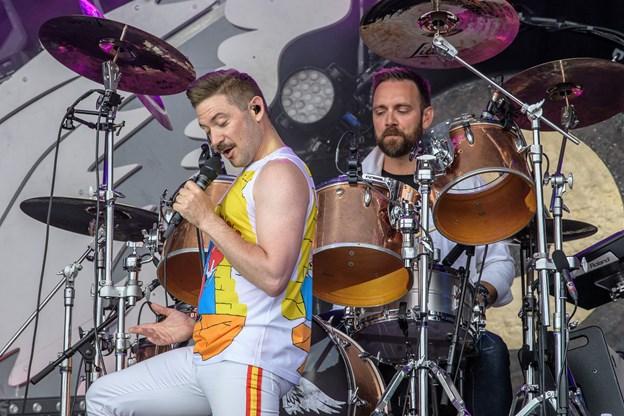 I år spiller Queen Machine, og så skulle deres lysshow gerne komme til sin ret, hvilket det ikke gjorde i fjor. Arkivfoto: Peter Broen
