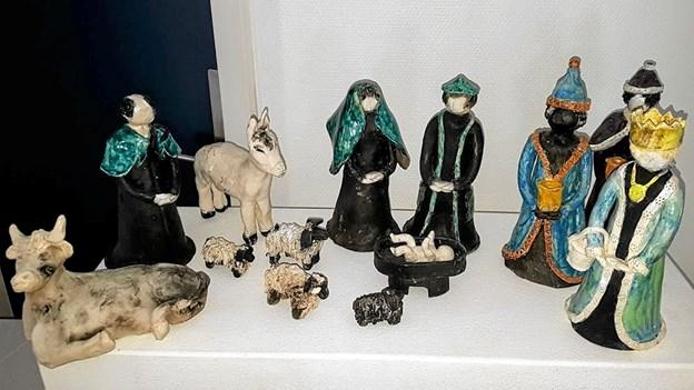 Et udvalg af Anna-Lise Pedersens kirkelige figurer Foto: Karl Erik Hansen