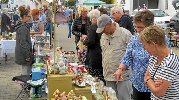 Kræmmermarked i Søndergade og Børnekræmmermarked i Nørregade. Foto: Arkivfoto