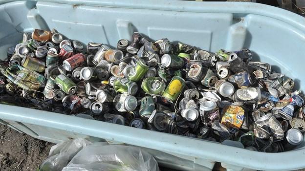 Der blev samlet endnu flere dåser ind end sidste år. ?Arkivfoto Michael Bygballe
