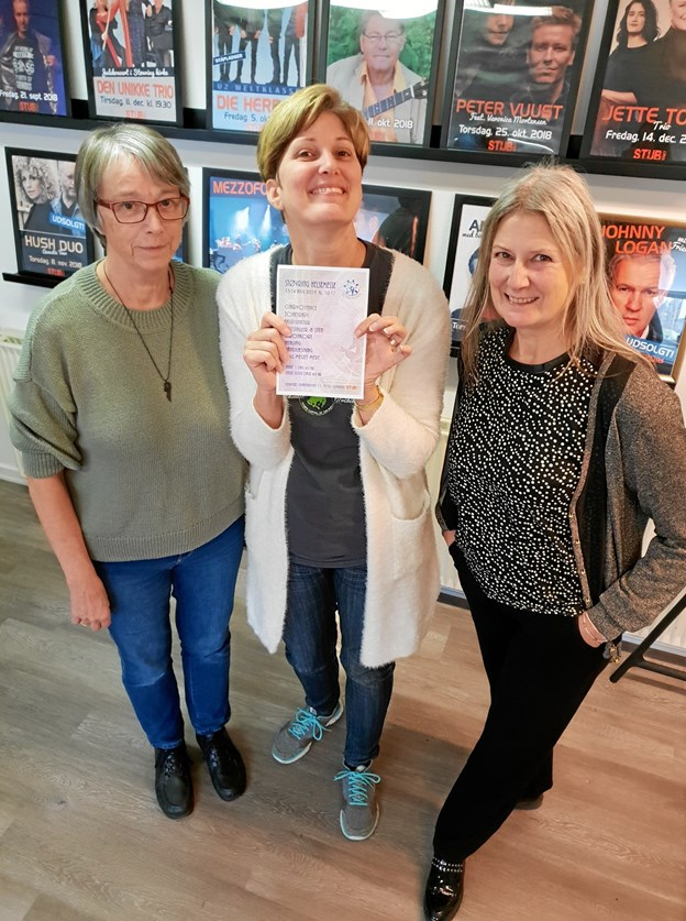 De tre kvinder bag den nye Støvring Helsemesse er fra venstre Agnes Rønager, Cristina Klastrup og Helle Jørgensen, daglig leder i Stubhuset. Privatfoto