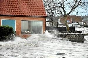 Roskilde Fjord under stormen Bodil den 6. december 2013. (Foto: Martin Drevs, DMI).
