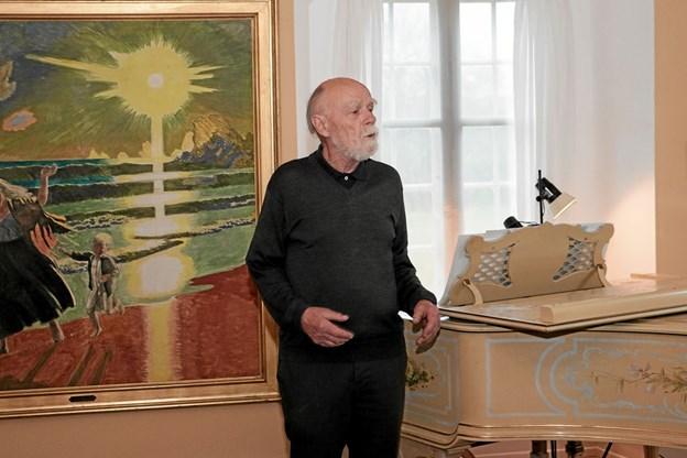 Troels Andersen bød velkommen til en flot og medrivende forårskoncert. Foto: Peter Jørgensen