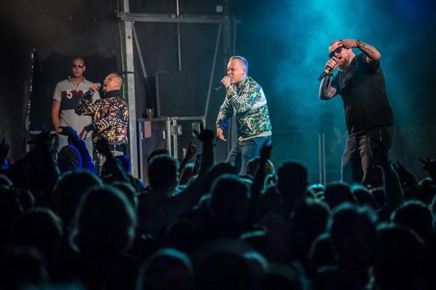 Koncerten med Ude af kontrol måtte afbrydes natten til lørdag af sikkerhedsmæssige årsager. Foto: Martin Damgård