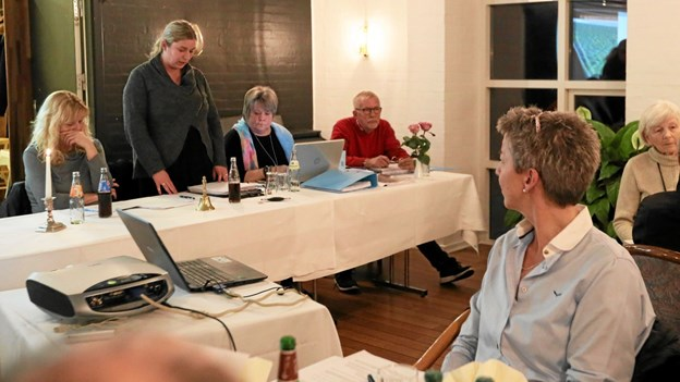Formand Susanne Frederickson fremlagde bestyrelsens beretning. Foto: Allan Mortensen Allan Mortensen