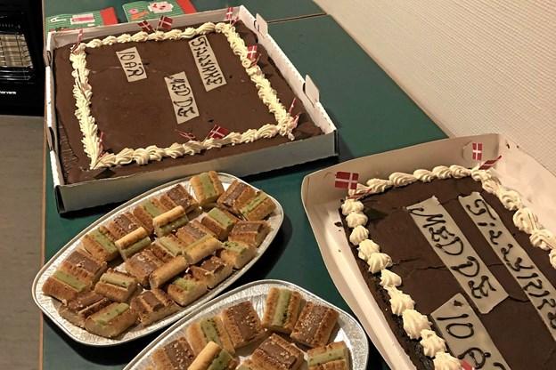 Kage hører til fødselsdag.Privatfoto Ole Iversen