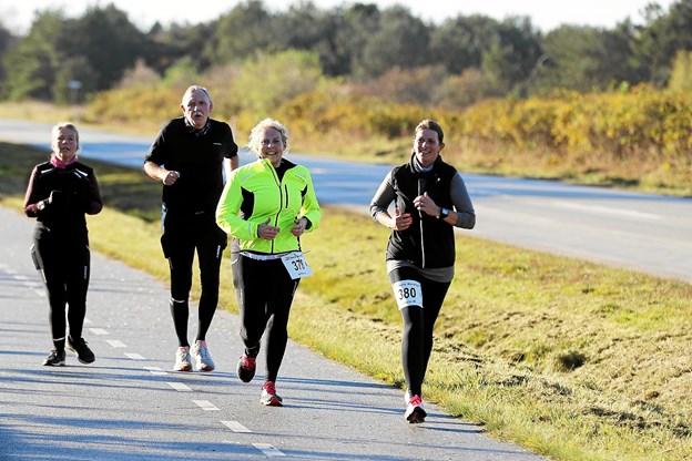 97 løbere var til start ved den 10. udgave af Hals Barre Marathon. Foto: Allan Mortensen