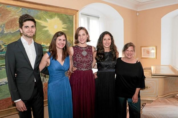 Holdet bestod i år af Nayeb Behbahani, Eva-Katharina Horn, Teresa Toelle, Sofia Luz Held under ledelse af Tanja Tismar. Foto: Peter Jørgensen Peter Jørgensen
