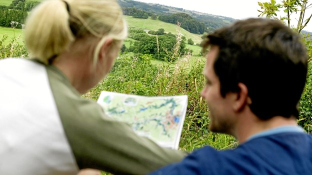 Nye oversigtskort skal hjælpe både borgere og gæster, der færdes i naturen. Fotograf: Niclas Jessen