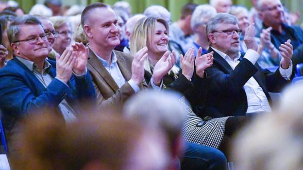 Både borgmester Birgit Hansen og lektor dr. phil Peter Michael Lauritzen, der her ses side om side,  talte ved jubilæumskoncerten. Foto Kim Dahl Hansen
