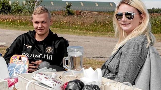 Sebastian og Rikke var er kommet fra Randers, inviteret af deres venner i Hulsig. Foto: Peter Jørgensen Peter Jørgensen
