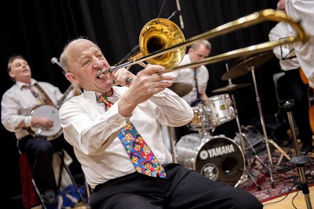 Advokatens New Orleans Jazz Band spiller i Brønderslev 9. marts. Arkivfoto: Lars Pauli