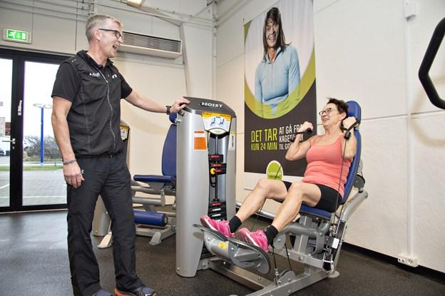 Niels og Marianne Jørgensen har solgt Loop Fitness til den tidligere fodboldspiller Bjørn Kristensen. Arkivfoto: Kurt Bering,