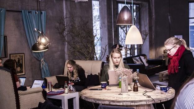 Studie:rummet på Østre Havn er allerede blevet et samlingssted for byens studerende. Foto: Maria Ellermann