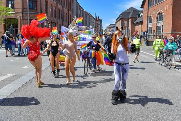 Aalborg Pride byder bl.a. på en stor parade gennem byen. Arkivfoto: Jesper Thomasen