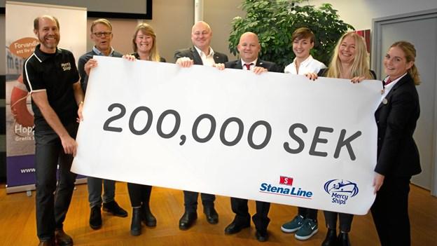 Passagerne om bord på Stena Jutlandica og på alle andre Stena Line-færger, og rederiet har i november doneret 200.000 svenske kroner til Mercy Ships' hospitalsskibe. PR-foto