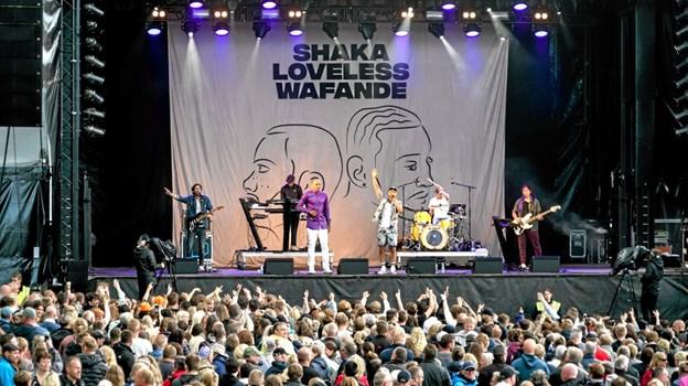 Wafande & Shaka Loveless var de unges helt store idoler. Foto: Peter Jørgensen Peter Jørgensen