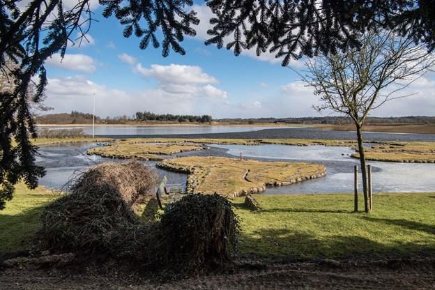 Verdenskortet ved Klejtrup Sø kan se tilbage på en flot sæson med mage gæster. ?Arkivfoto: Martin Damgård