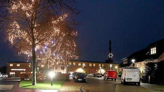 Og flot så det ud, da lysene blev tændt. Foto: Allan Mortensen Allan Mortensen
