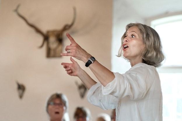 Organist Anette Kjær er tovholder i forbindelse med de fire fællessangs-arrangementer i Haverslev i forbindelse med byfesten i uge 33. Arkivfoto